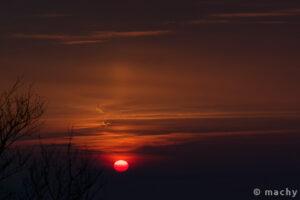 Východ slunce na Velkém Blaníku