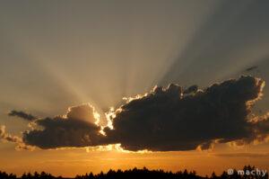 Západ slunce - Dubějovice
